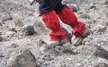 Gaiters prevent gravel and sand from getting into your boots.