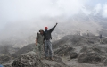 Taher Nasrulla and Ernest Kimambo just on top of Barranco Wall (day 4 of Lemosho route)