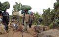 Porters ascending to Shira plateau