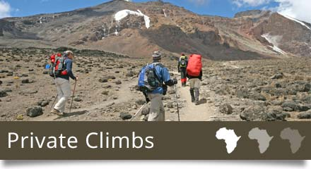 Climb Kilimanjaro with us- Private Climbs