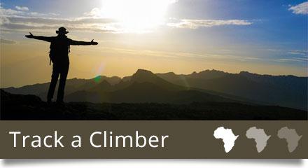 Track a climber up Kilimanjaro