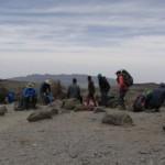 Hiking in Afro-alpine dessert